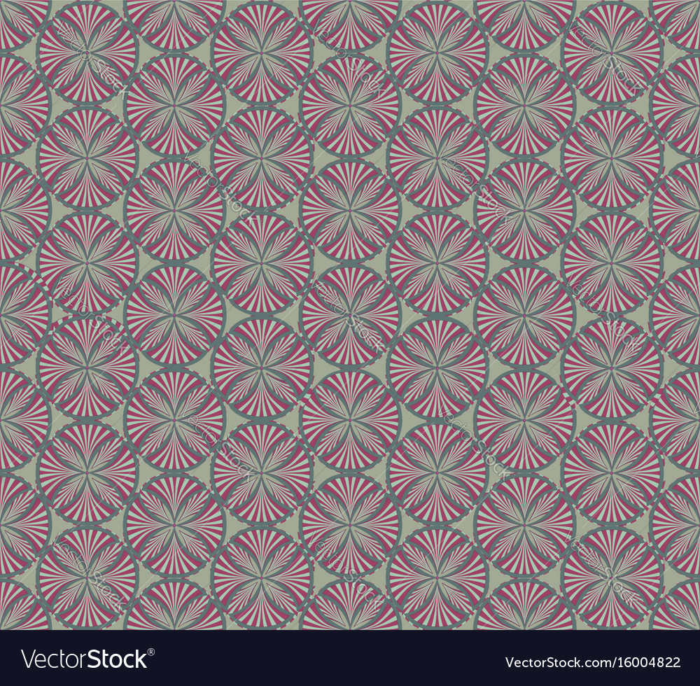 Abstract fabric ornament geometric line seamless vector image