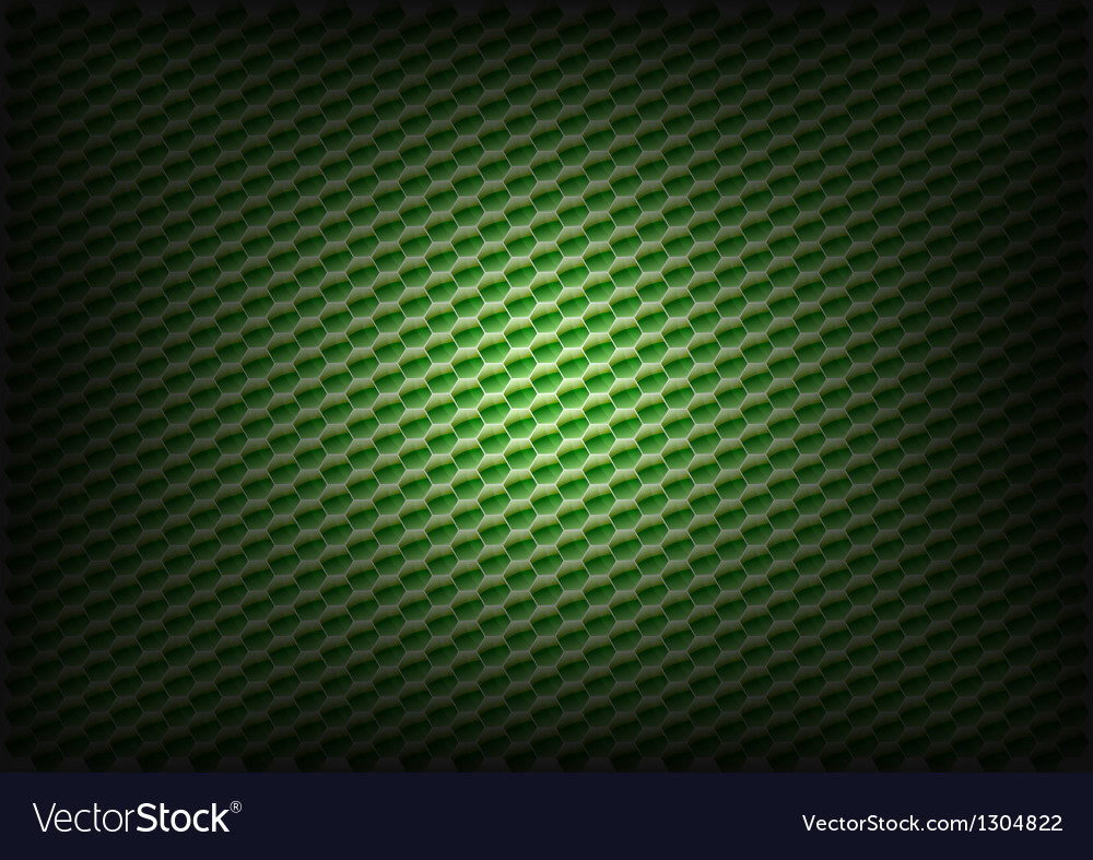 Hexagon background green vector image
