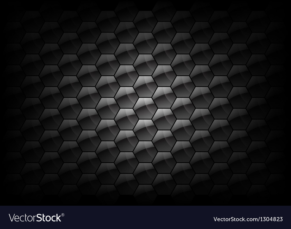 Hexagon background grey vector image