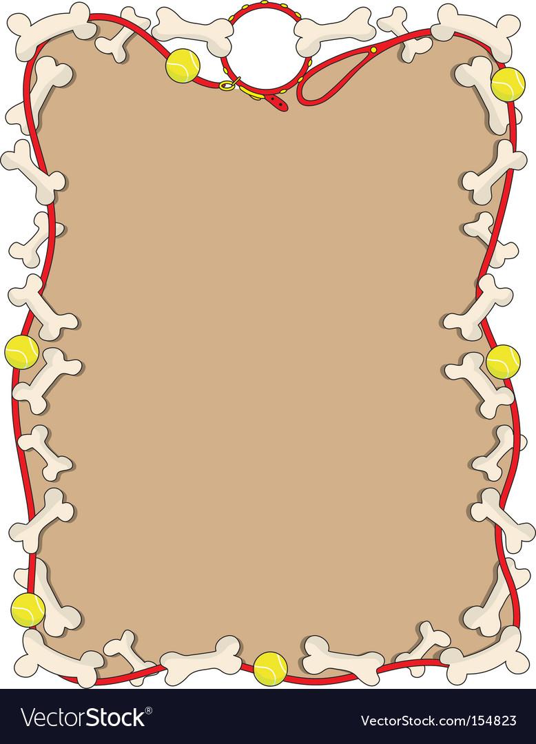 Dog border vector image