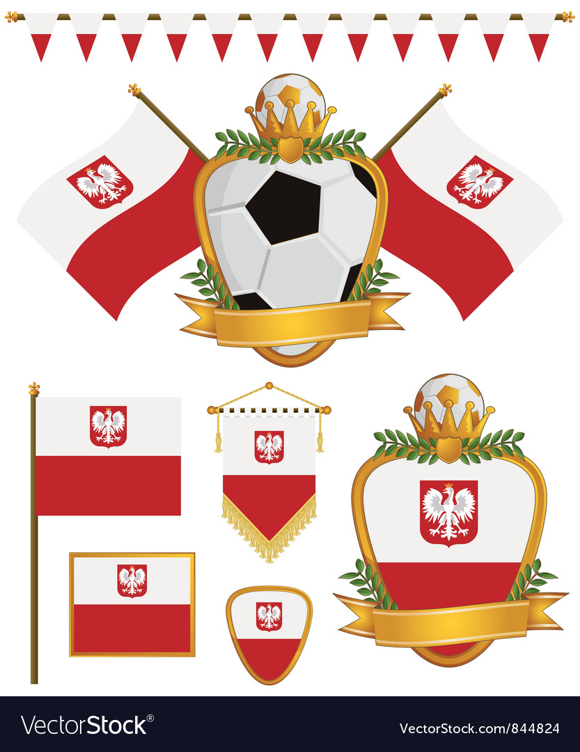 Poland flags vector image
