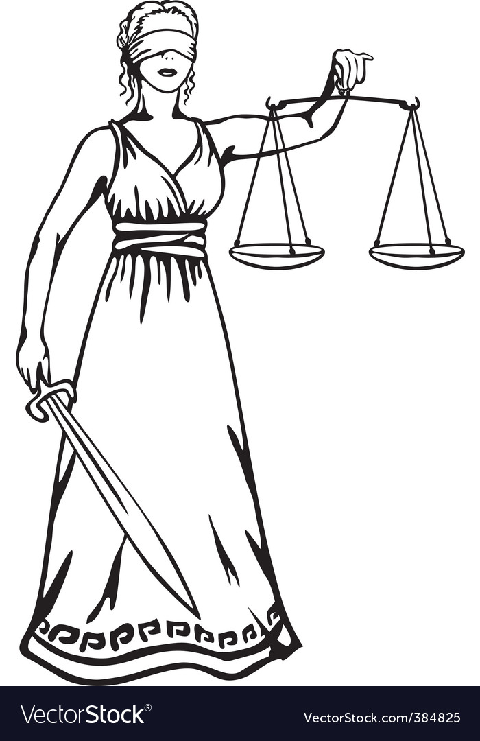 Femida goddess of justice vector image