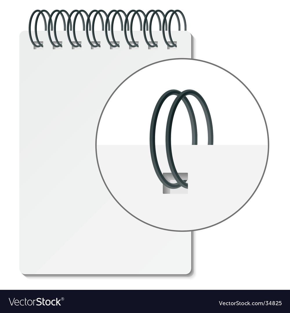 Spiral binder vector image