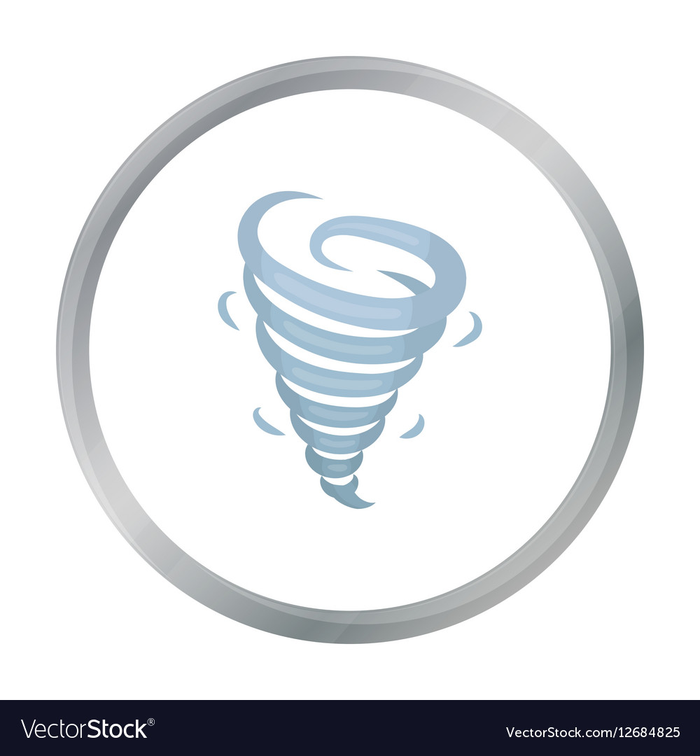 Tornado icon in cartoon style isolated on white vector image