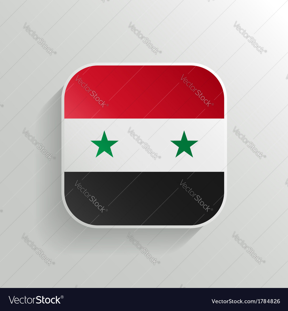 Button - Syria Flag Icon vector image