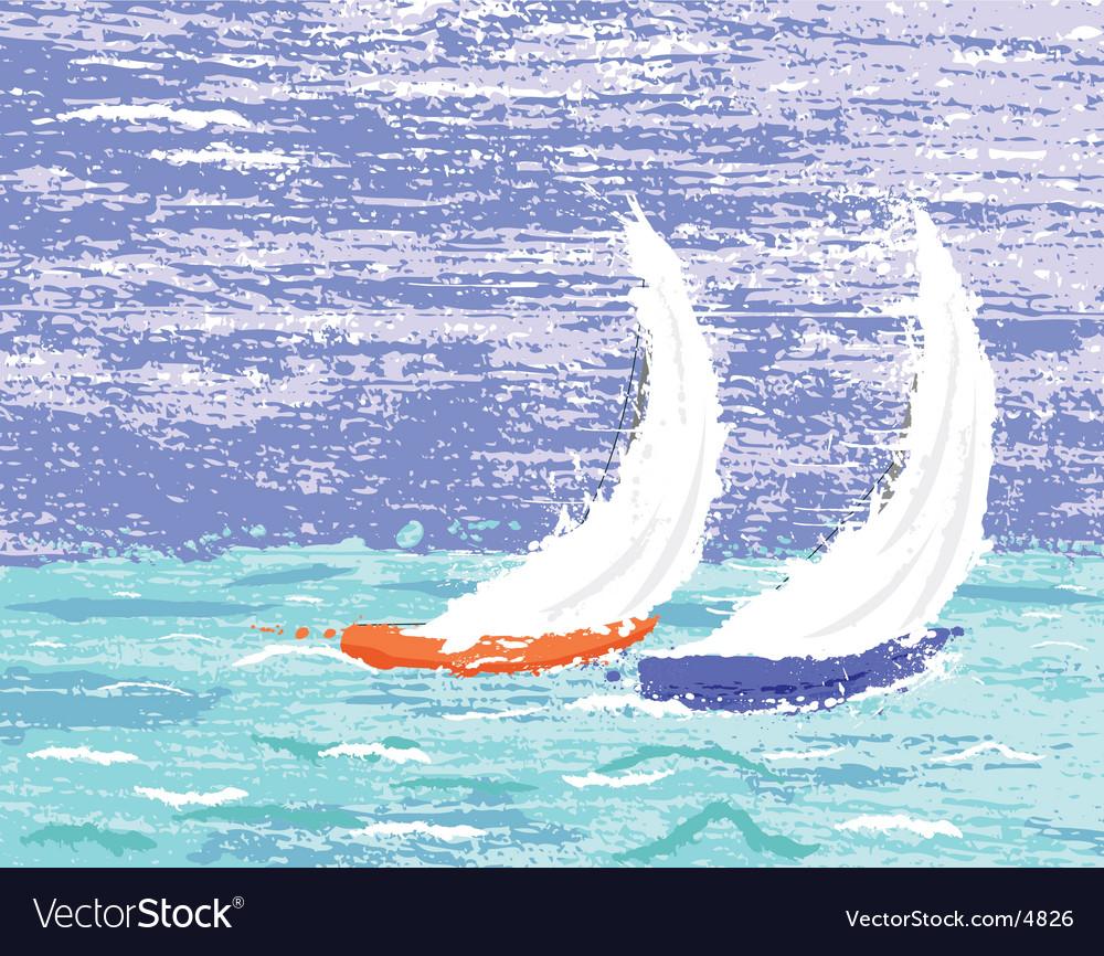 Yachts vector image
