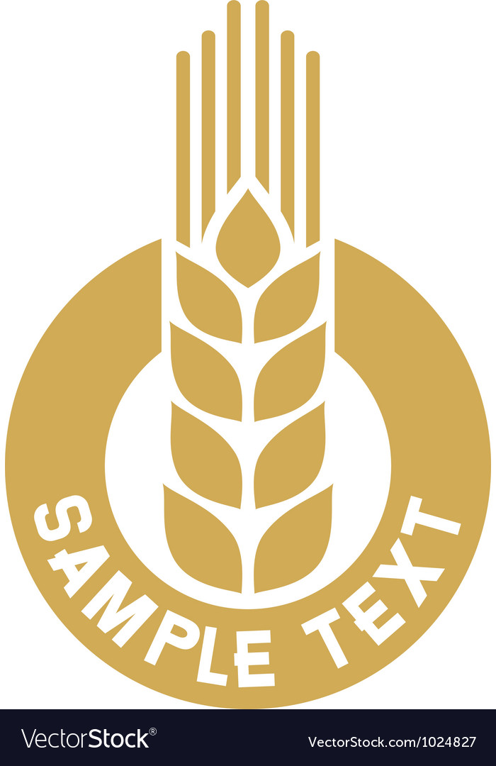 Wheat label vector image