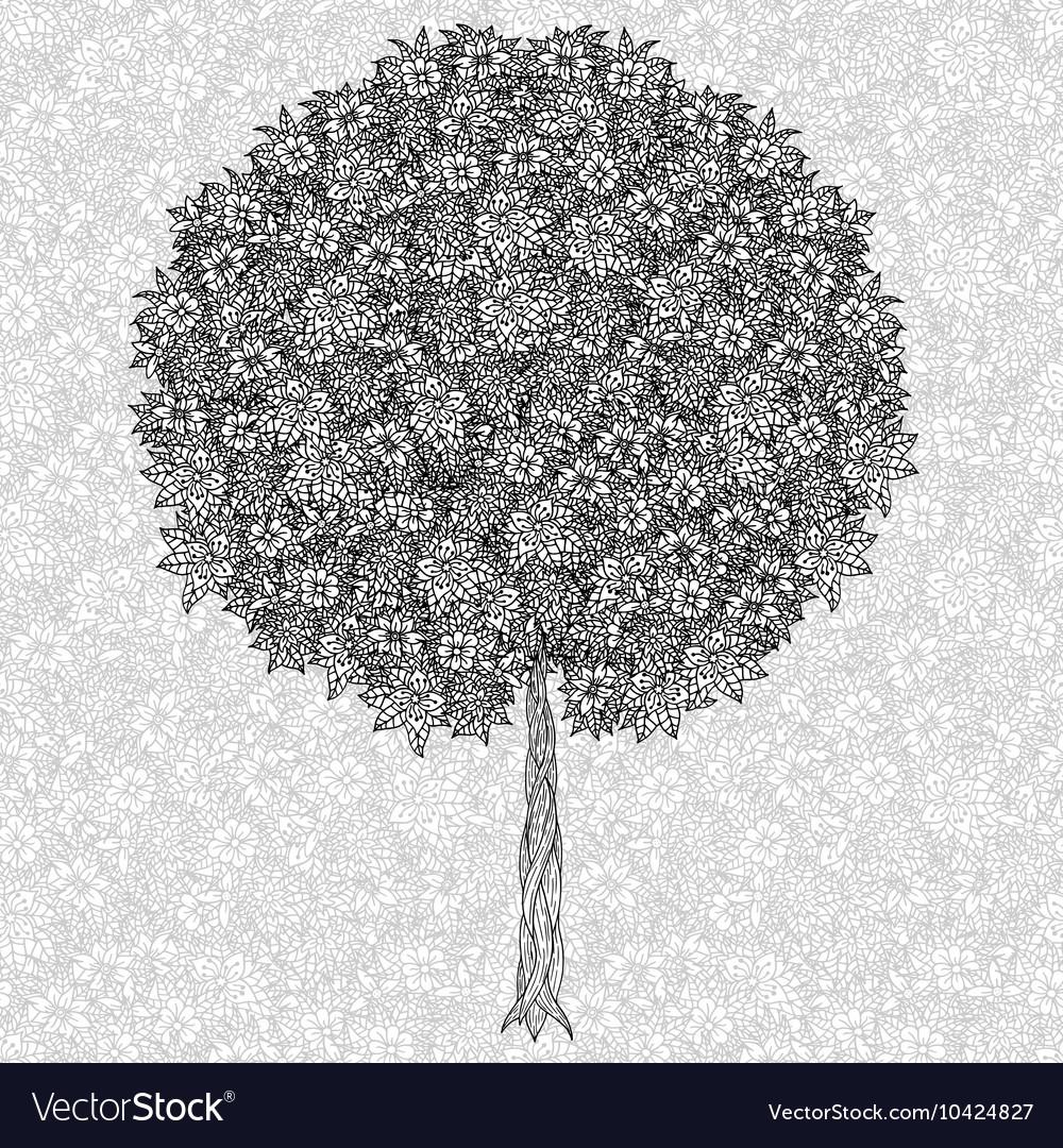 abstract tree drawing royalty free vector image