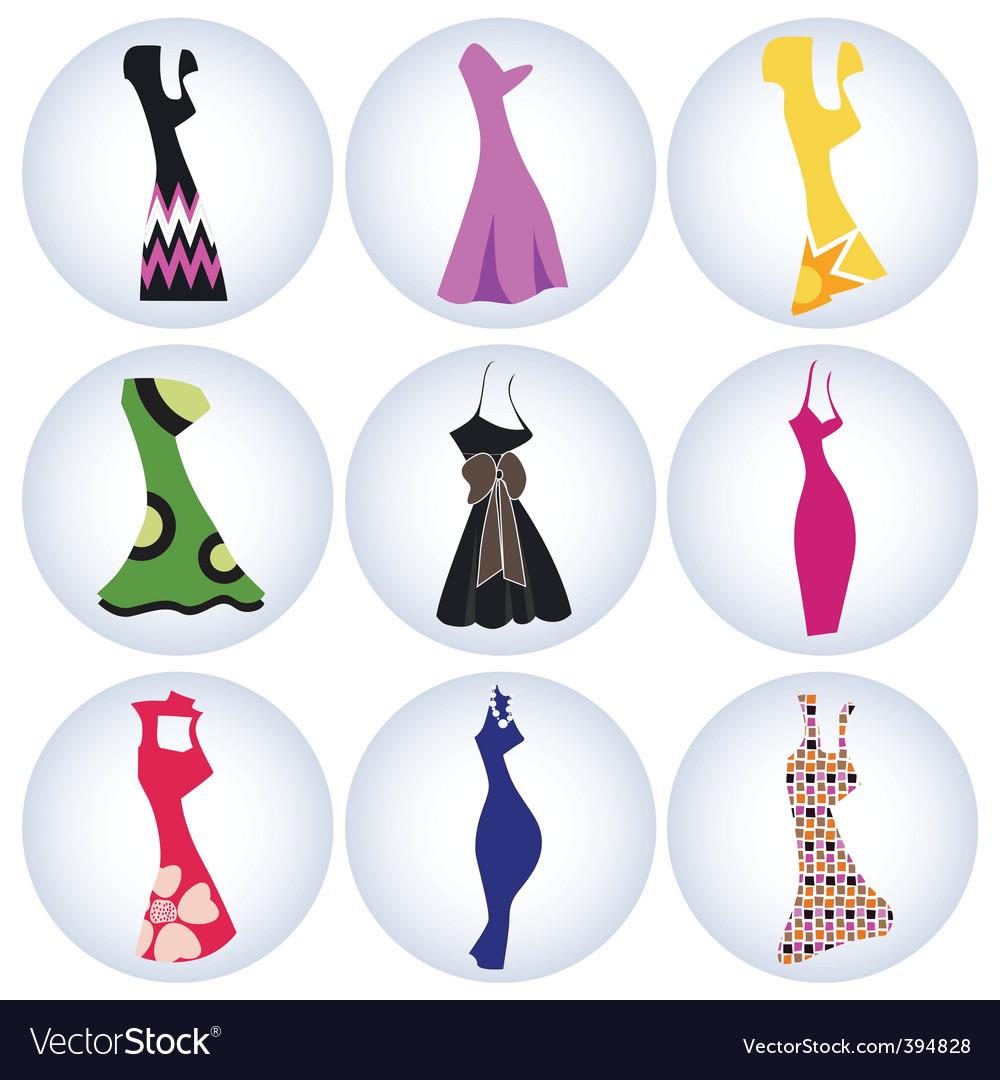 Woman dress vector image