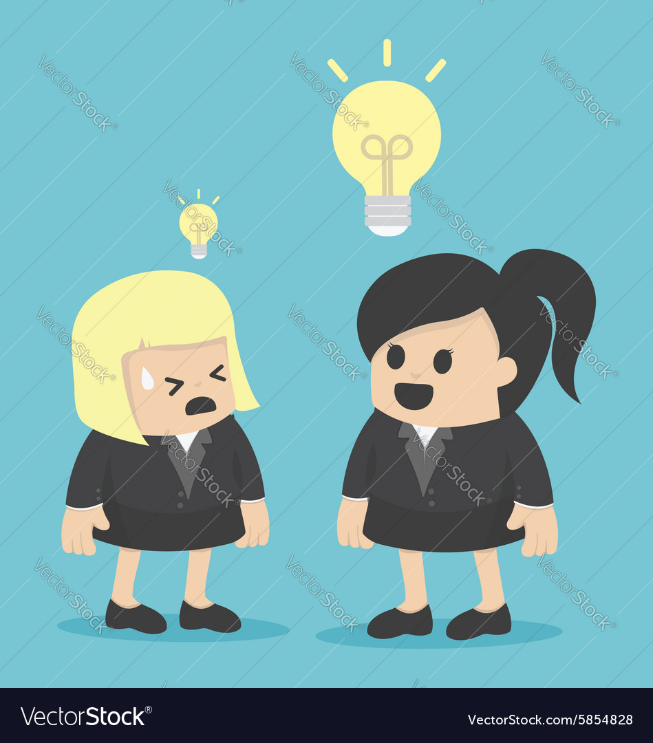 Big ideas and small ideas vector image