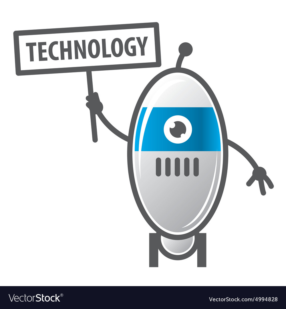 Logo robot sign technology vector image