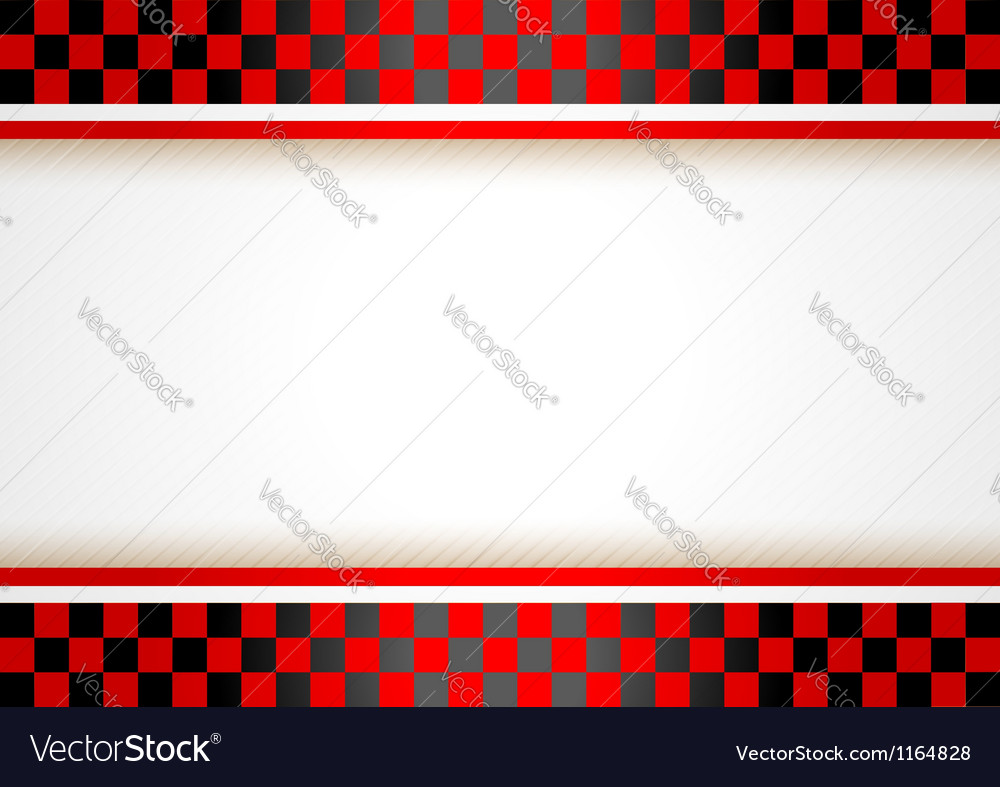 Race horizontal background vector image