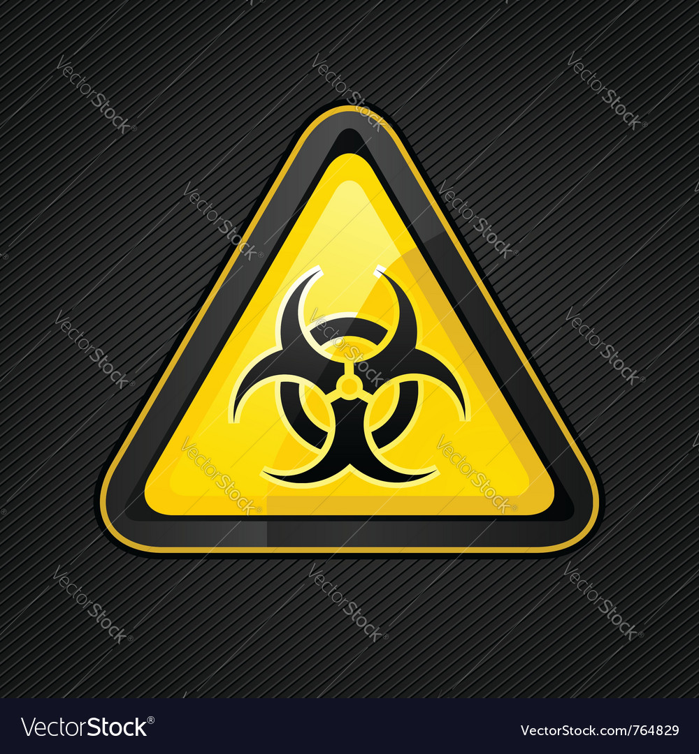 Biohazard warning sign vector image