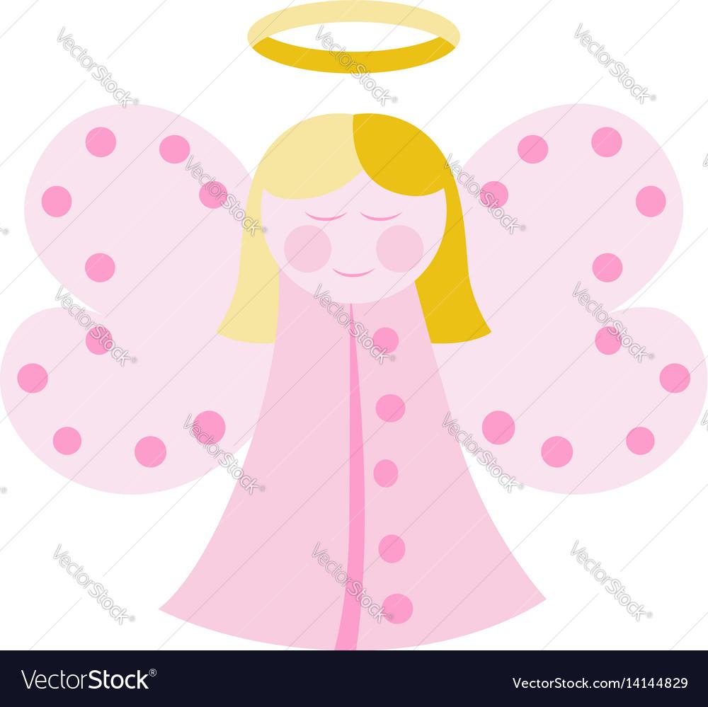 Cute angel in pink vector image