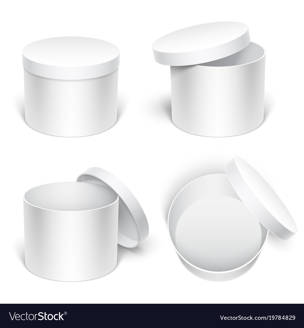White gift boxes vector image