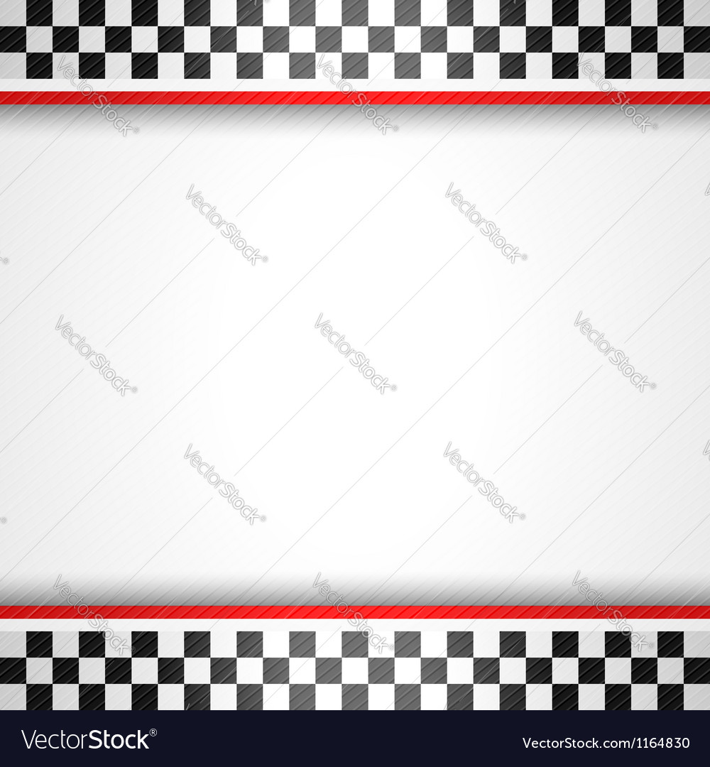 Racing square background vector image
