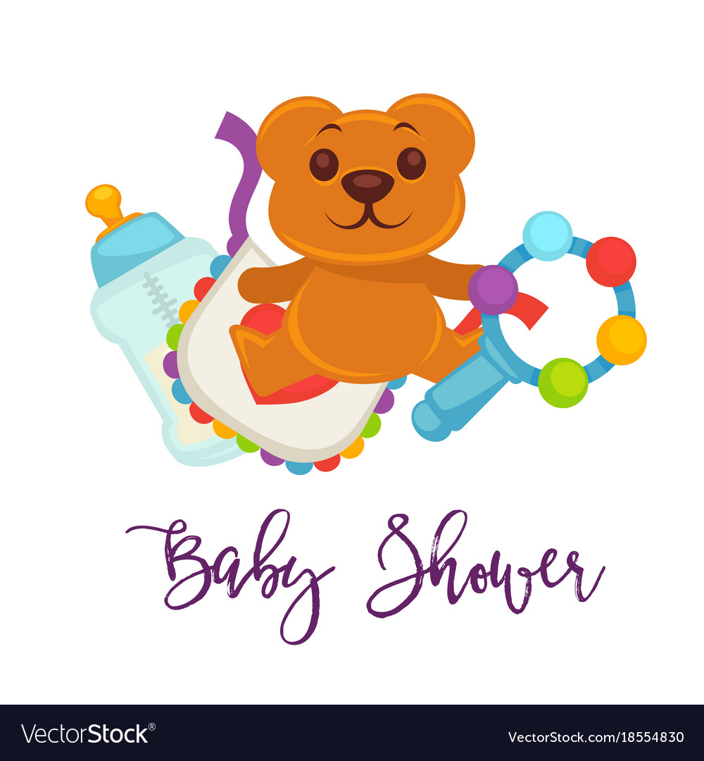 Baby shower greeting card for boy girl birth vector image kristyandbryce Image collections