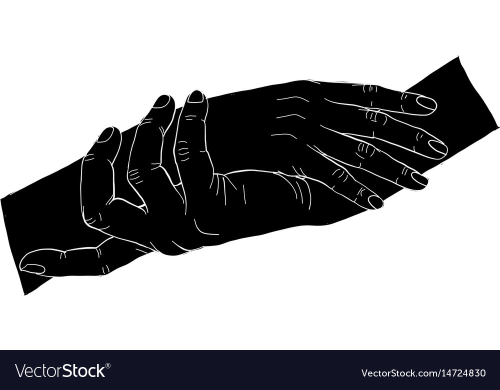 Silhouatte hand vector image
