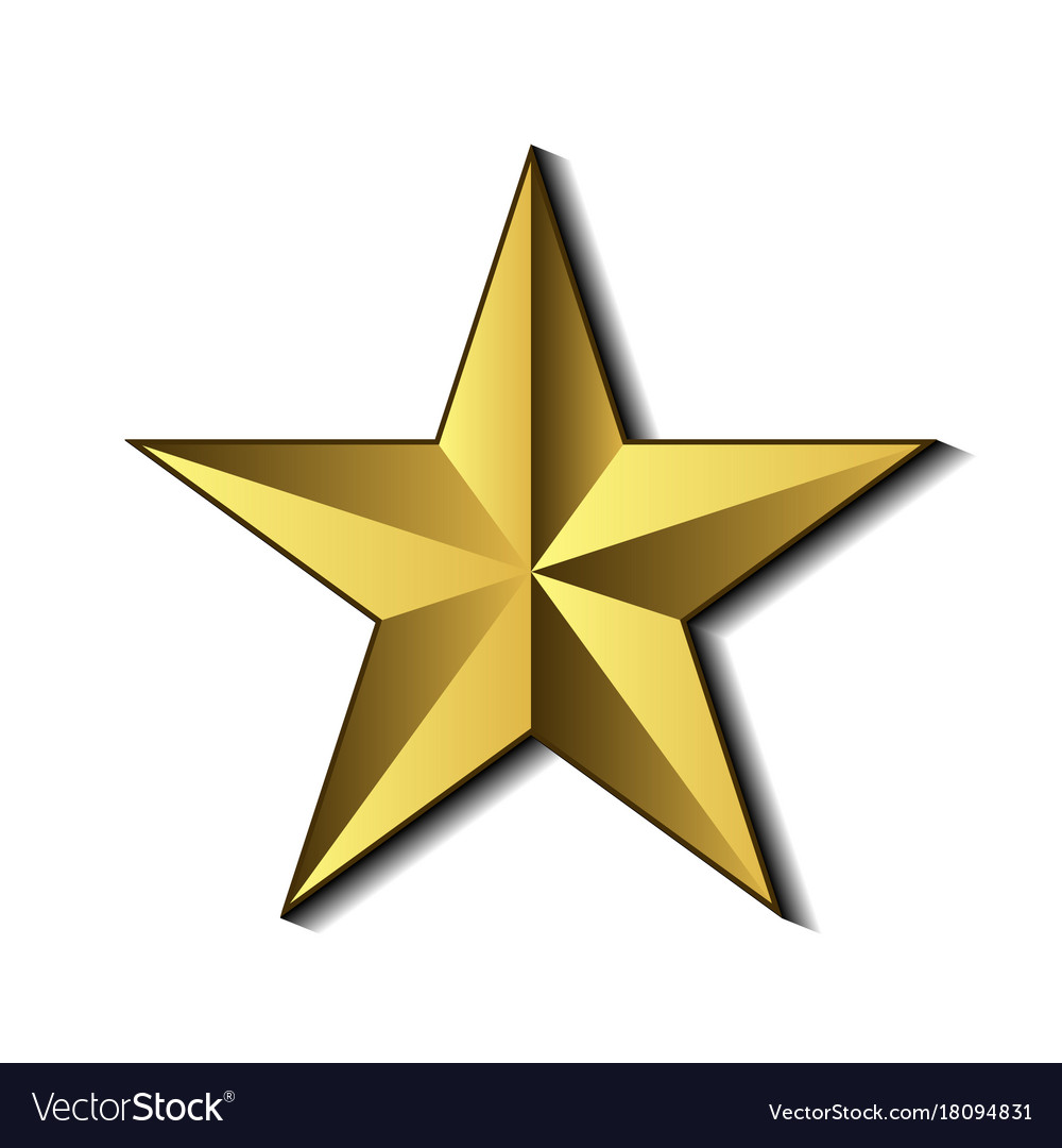 Golden star symbol royalty free vector image vectorstock golden star symbol vector image buycottarizona
