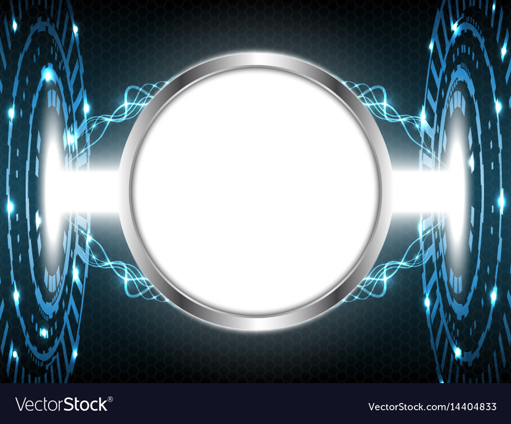 Abstract digital technology circle with white vector image