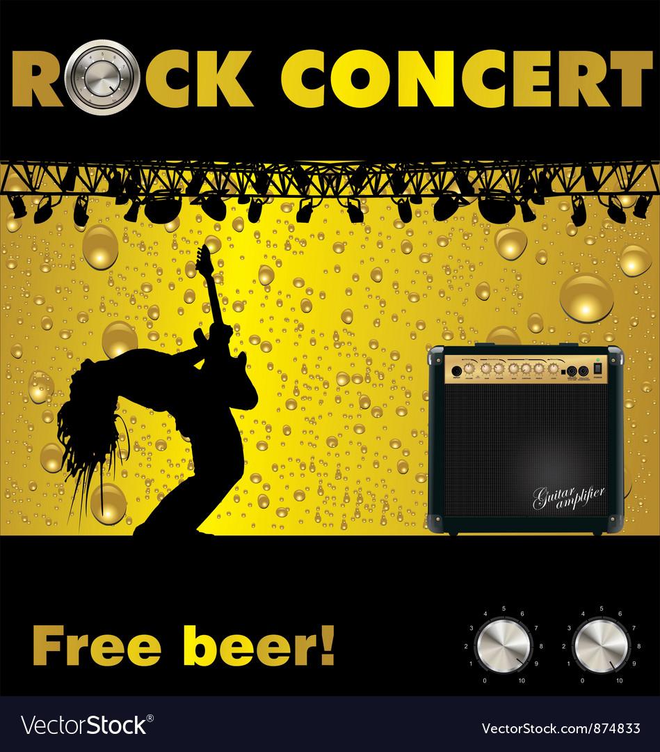 Rock concert free beer wallpaper vector image