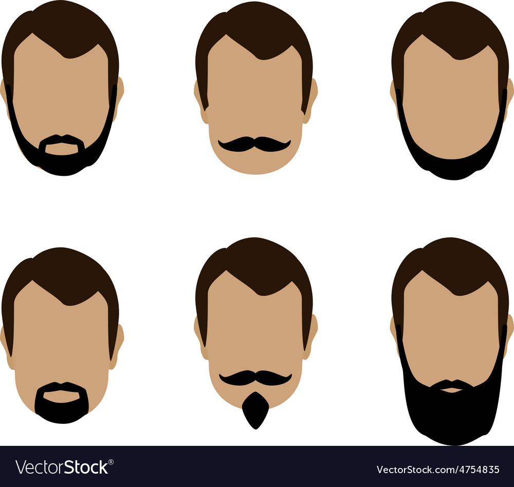 Face set vector image