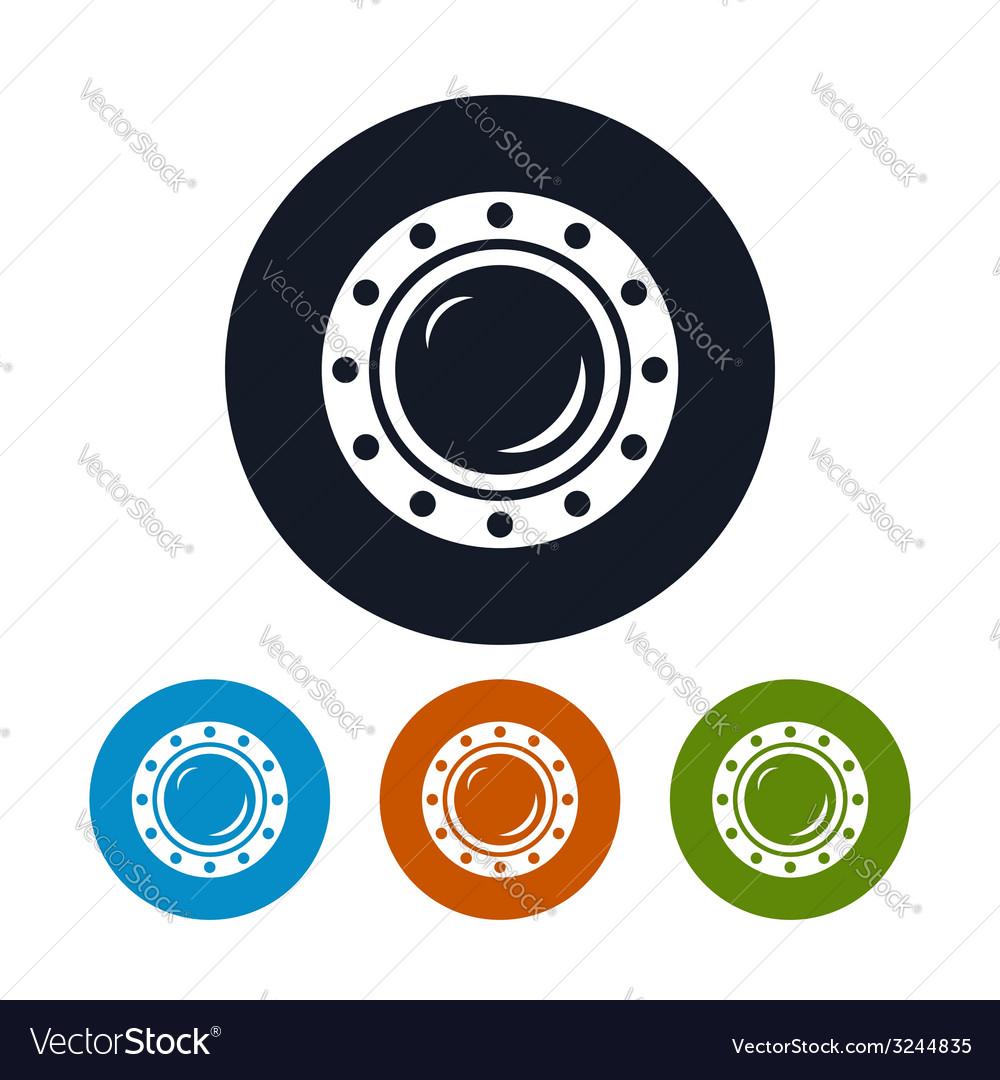 Icon porthole vector image