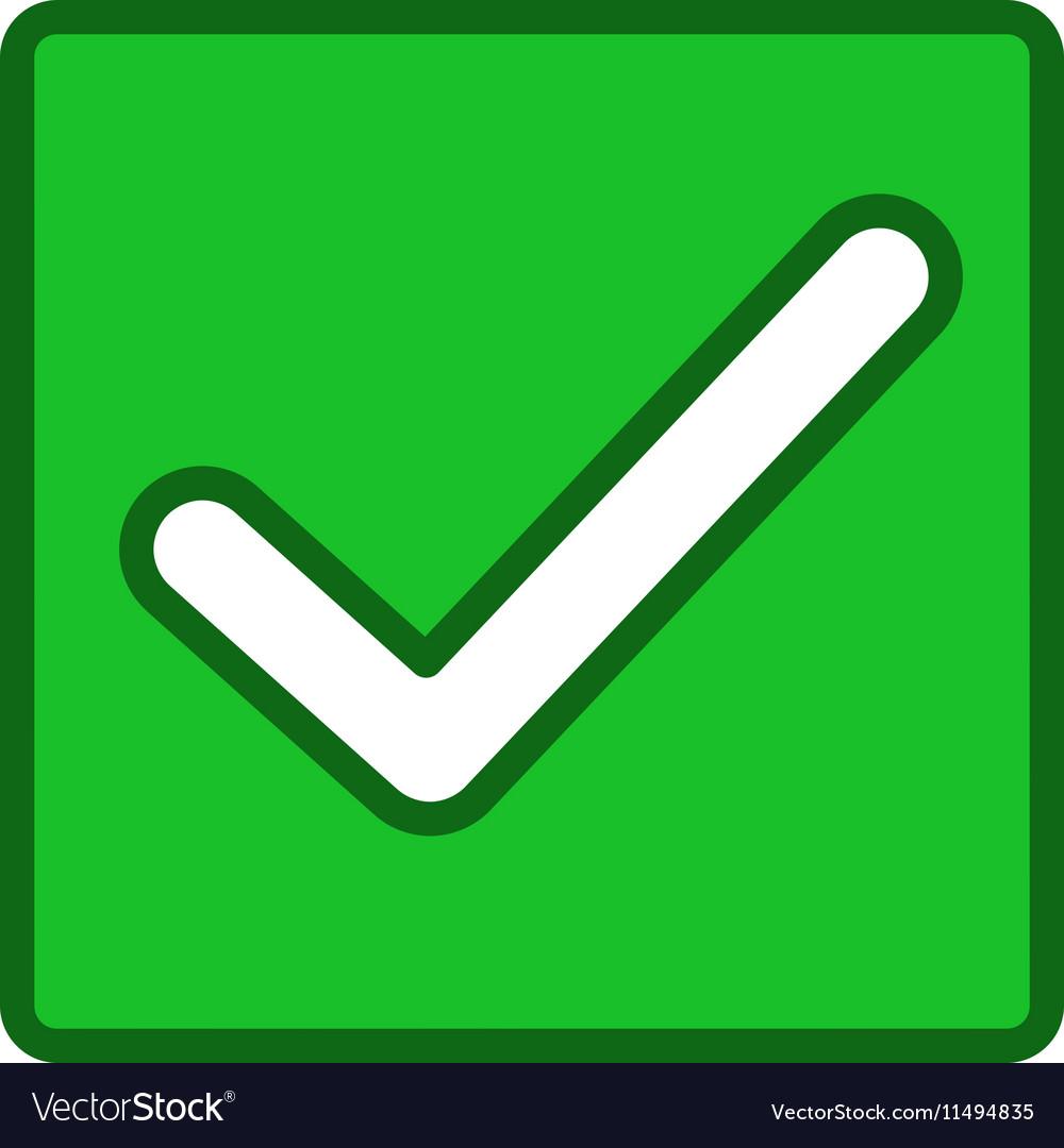 Valid Checkbox Toolbar Icon vector image