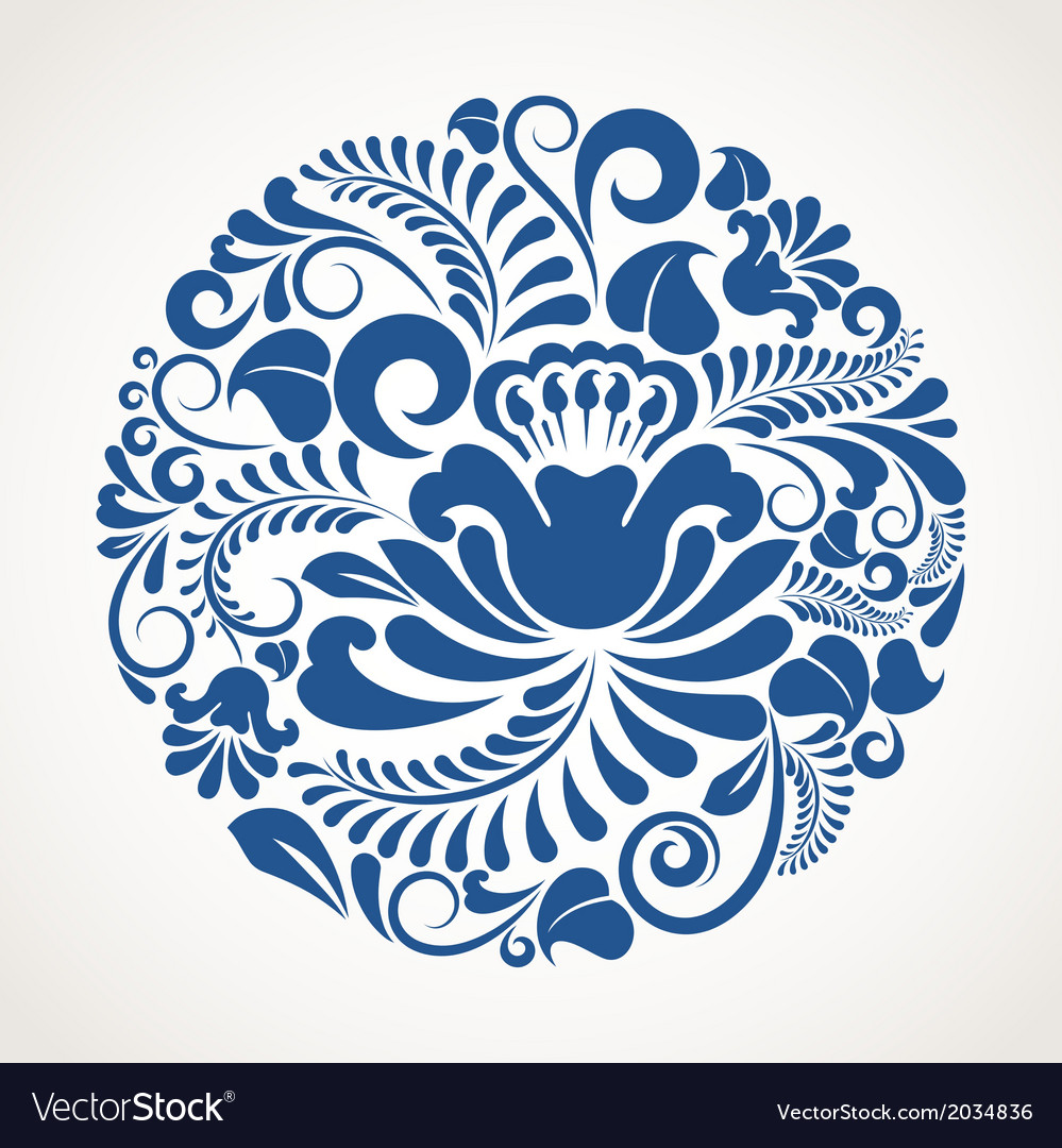 Round ornament vector image