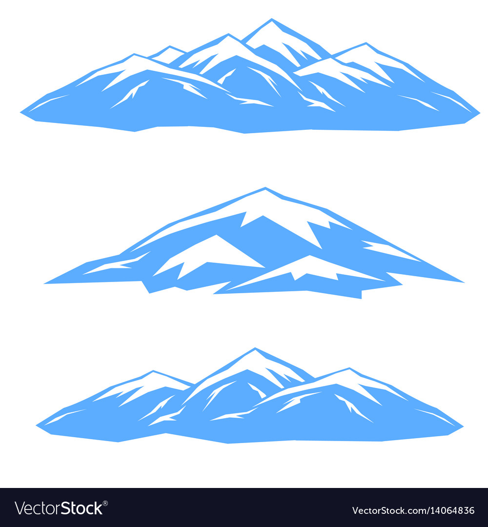 The set of blue ridges vector image