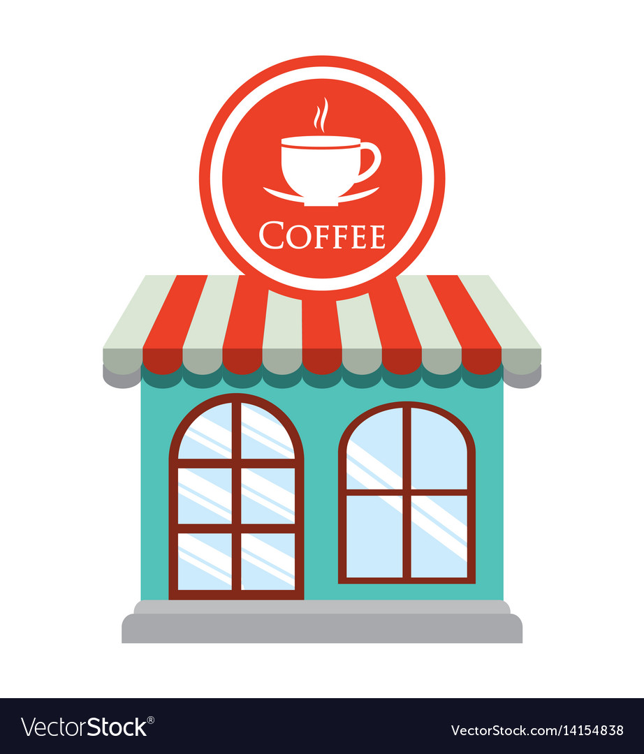 Coffee shop restaurant decorative vector image. Coffee shop restaurant decorative Royalty Free Vector Image