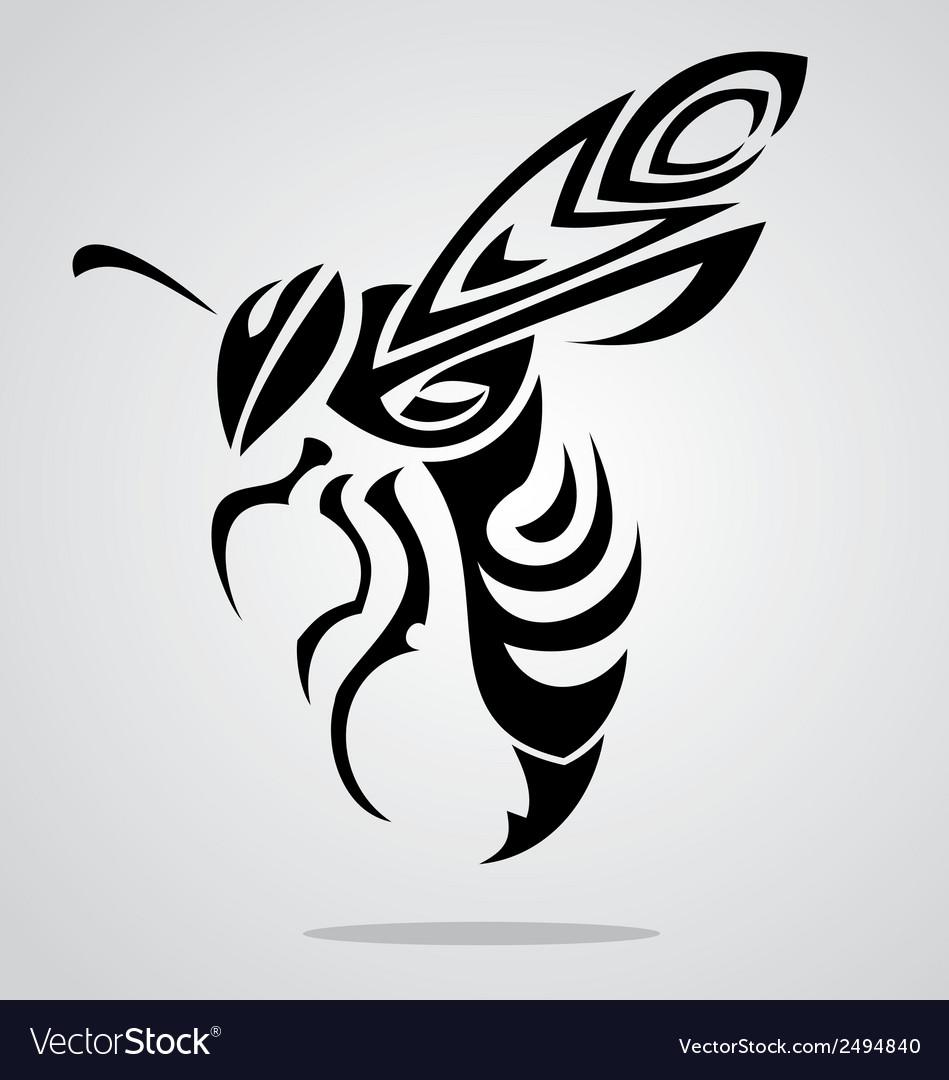 Bee Tattoo Design vector image