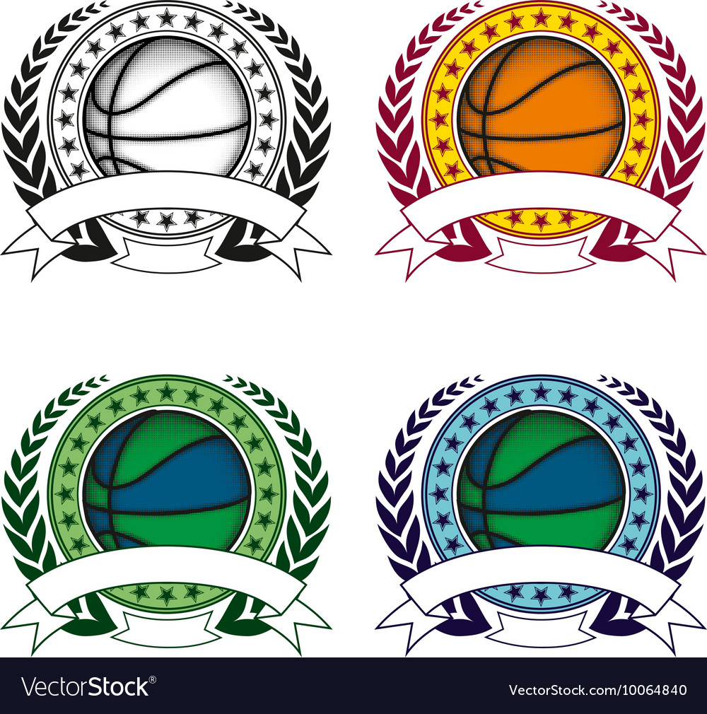 Basketball emblem 4 vector image