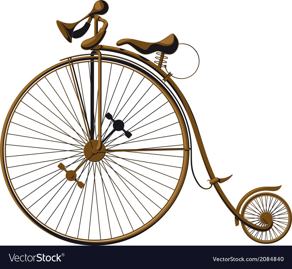 Old fashioned bicycle vector image