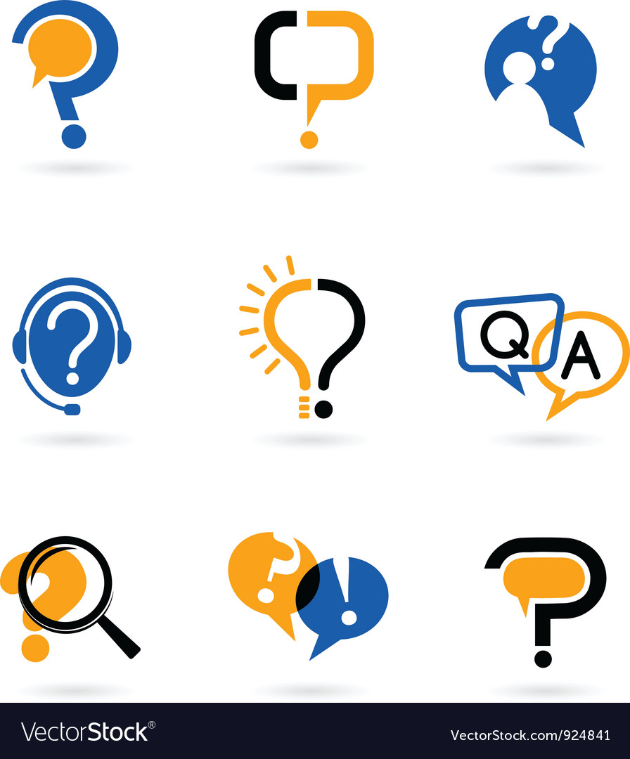 Set of question mark icons vector image