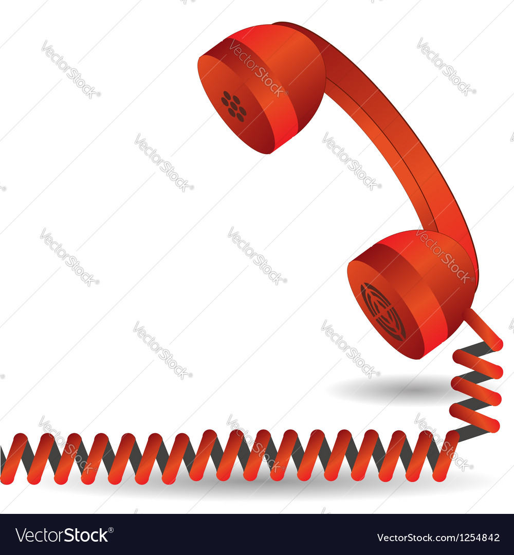 Red telephone vector image