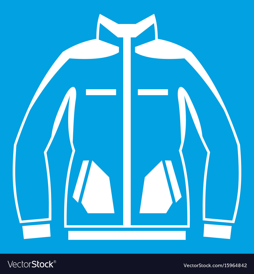 Men winter jacket icon white vector image