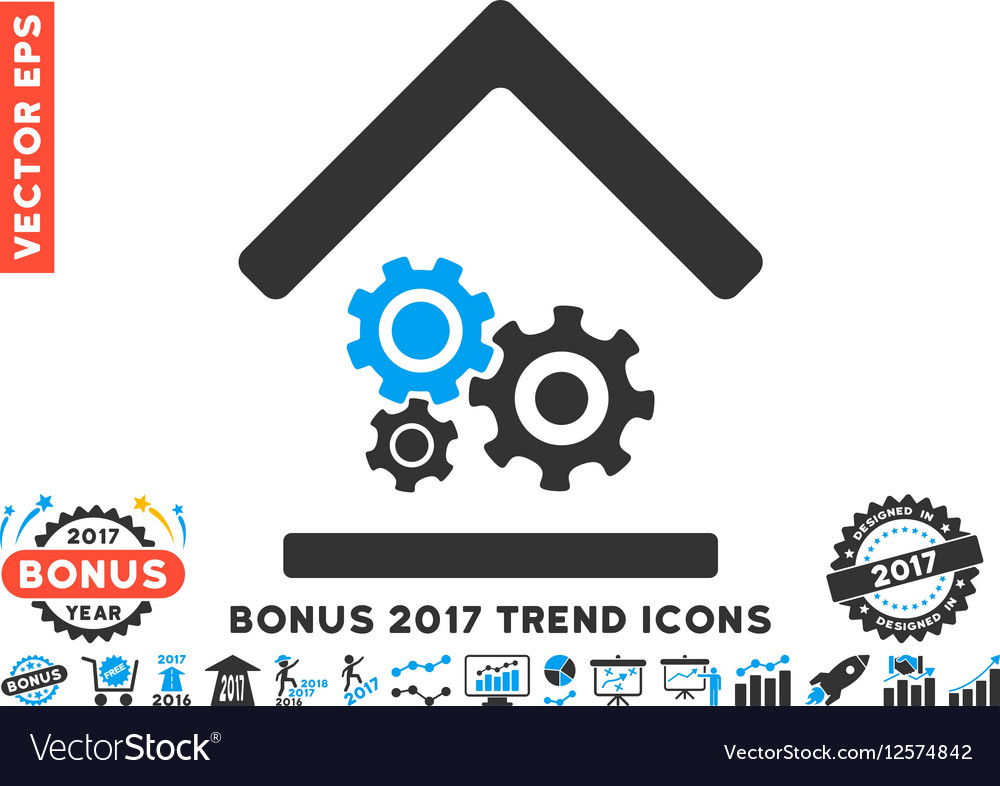 Workshop Flat Icon With 2017 Bonus Trend vector image