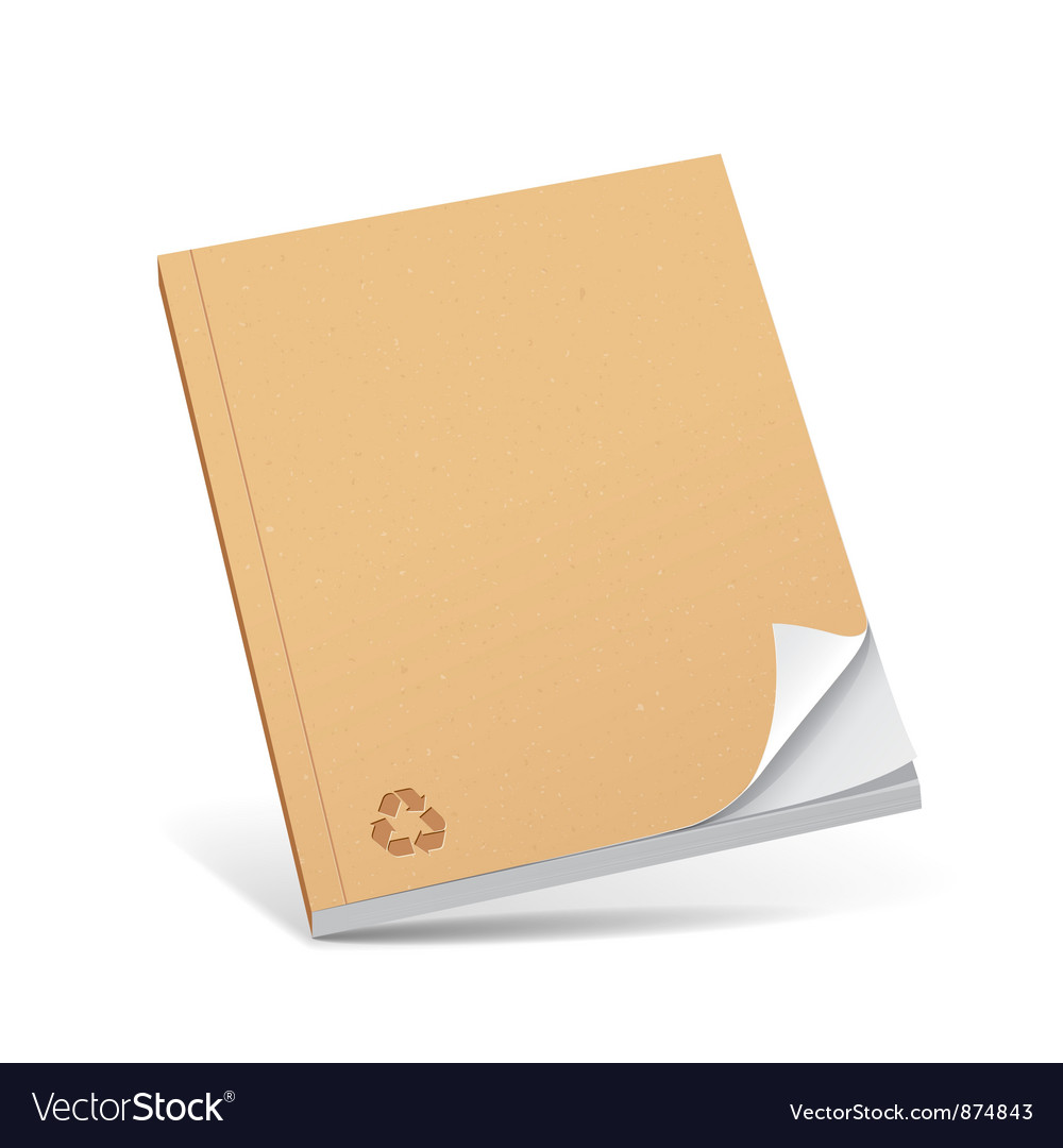 Cover recycle brown book with blank Vector Image