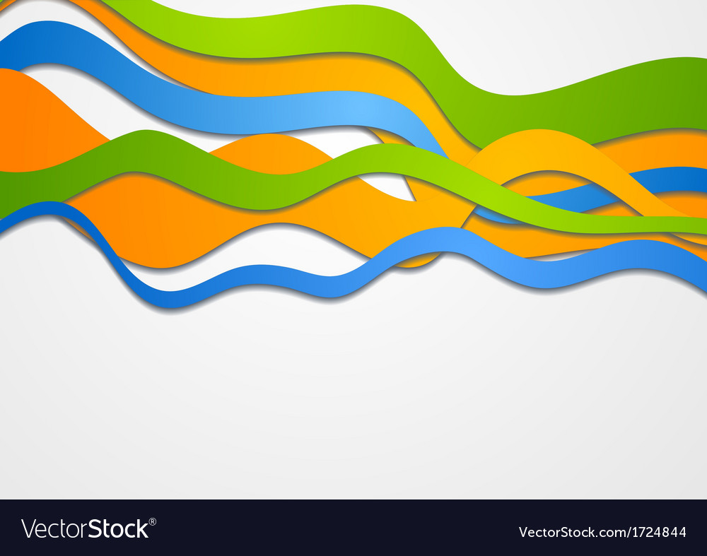 Colorful waves vector image