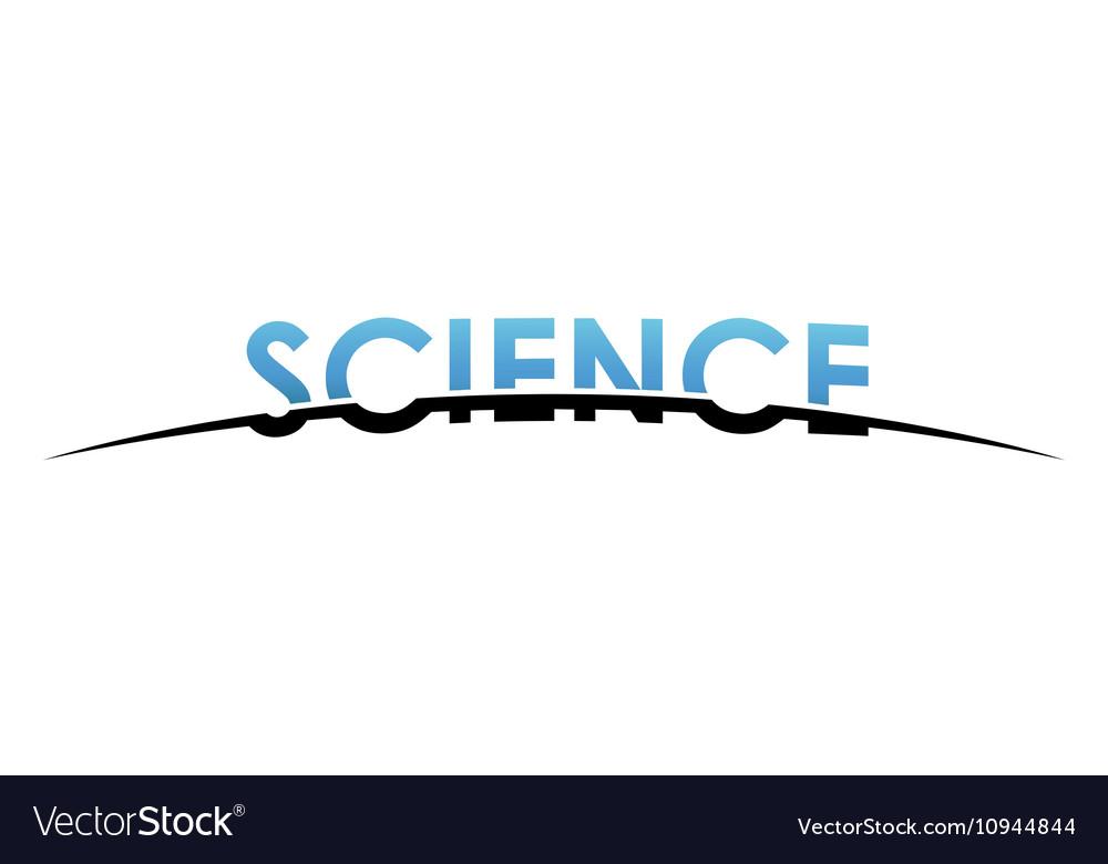 Science logo design Creative science design vector image