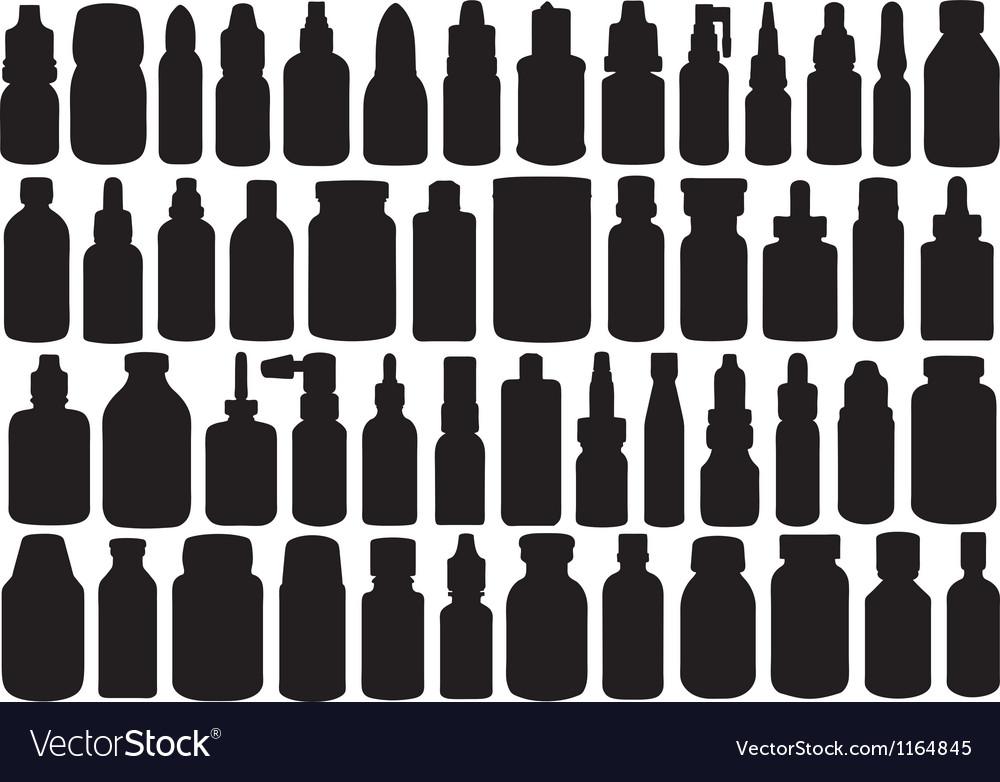 Medicine bottle vector image