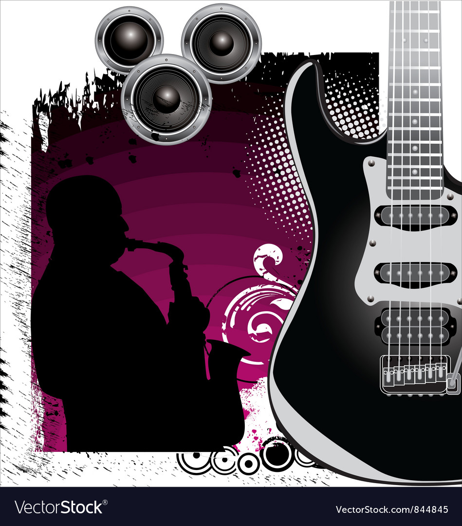 Grunge Music background vector image