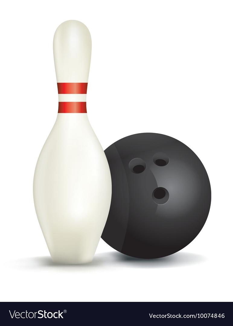 Bowling Pin and Ball vector image
