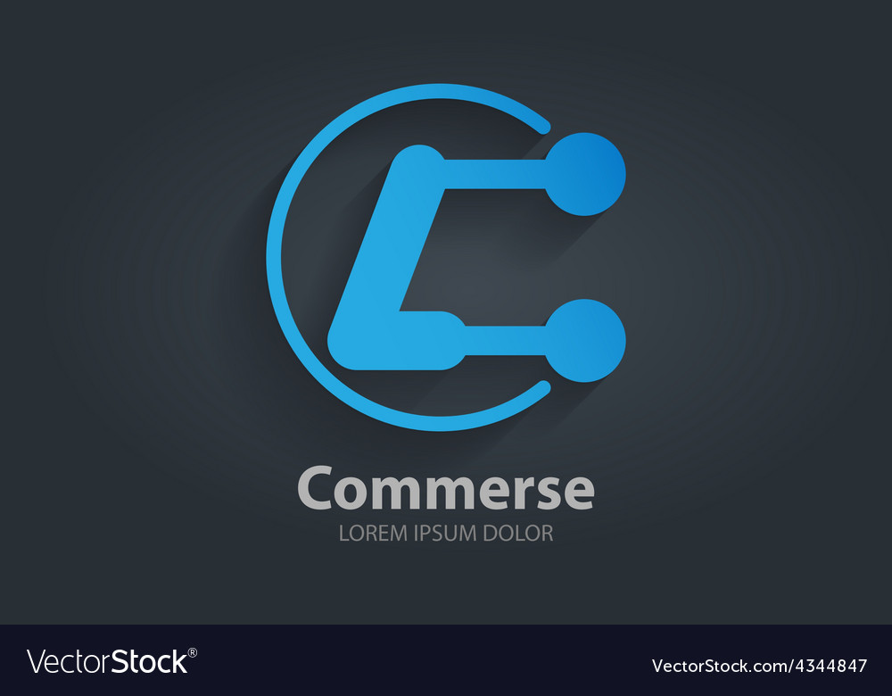 Abstract logo design template Letter C Corporate vector image