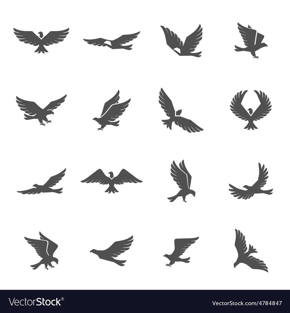 Eagle Icons Set vector image