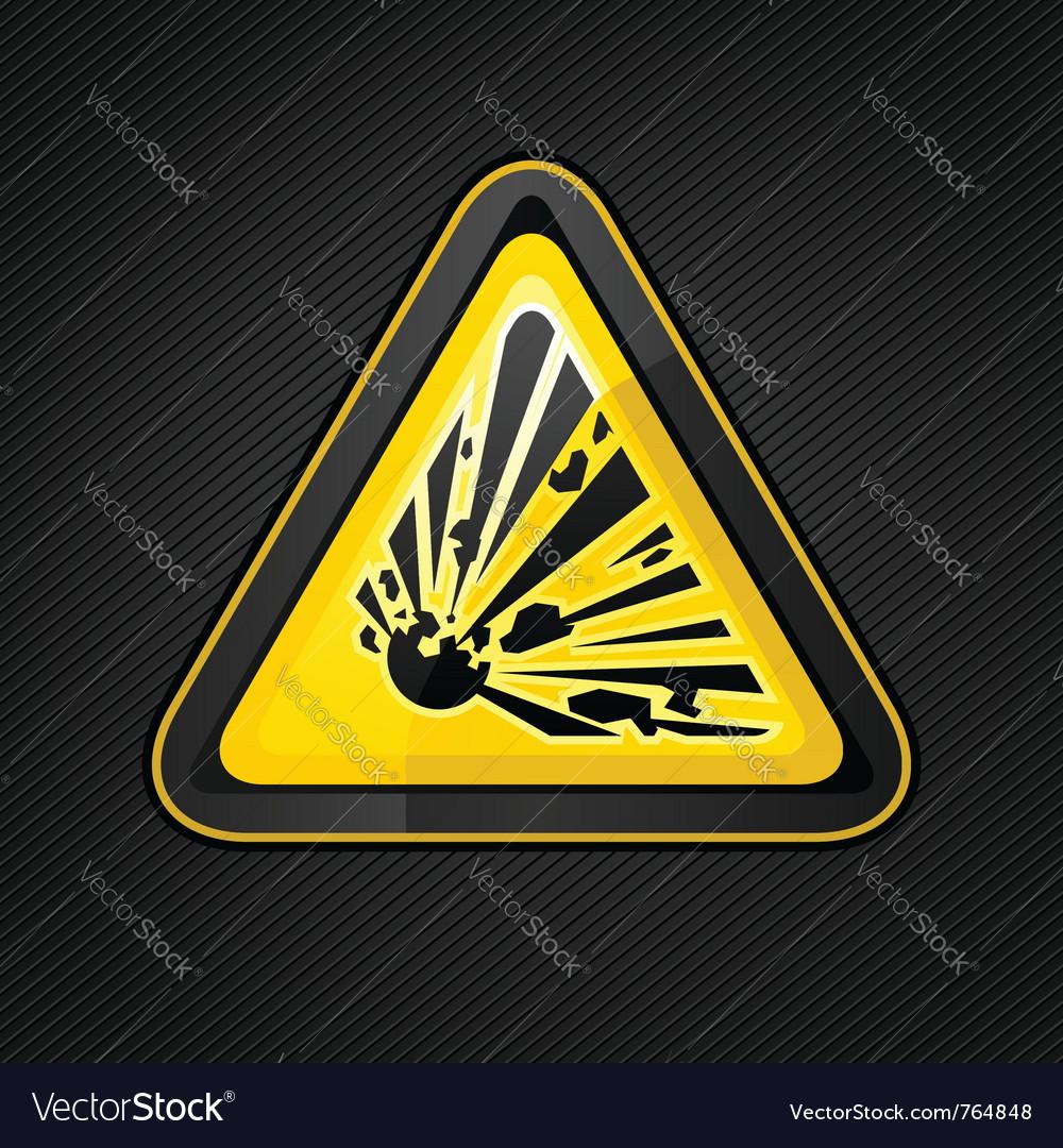 Explosive warning sign vector image