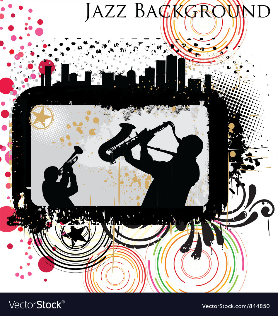 Retro Jazz background vector image