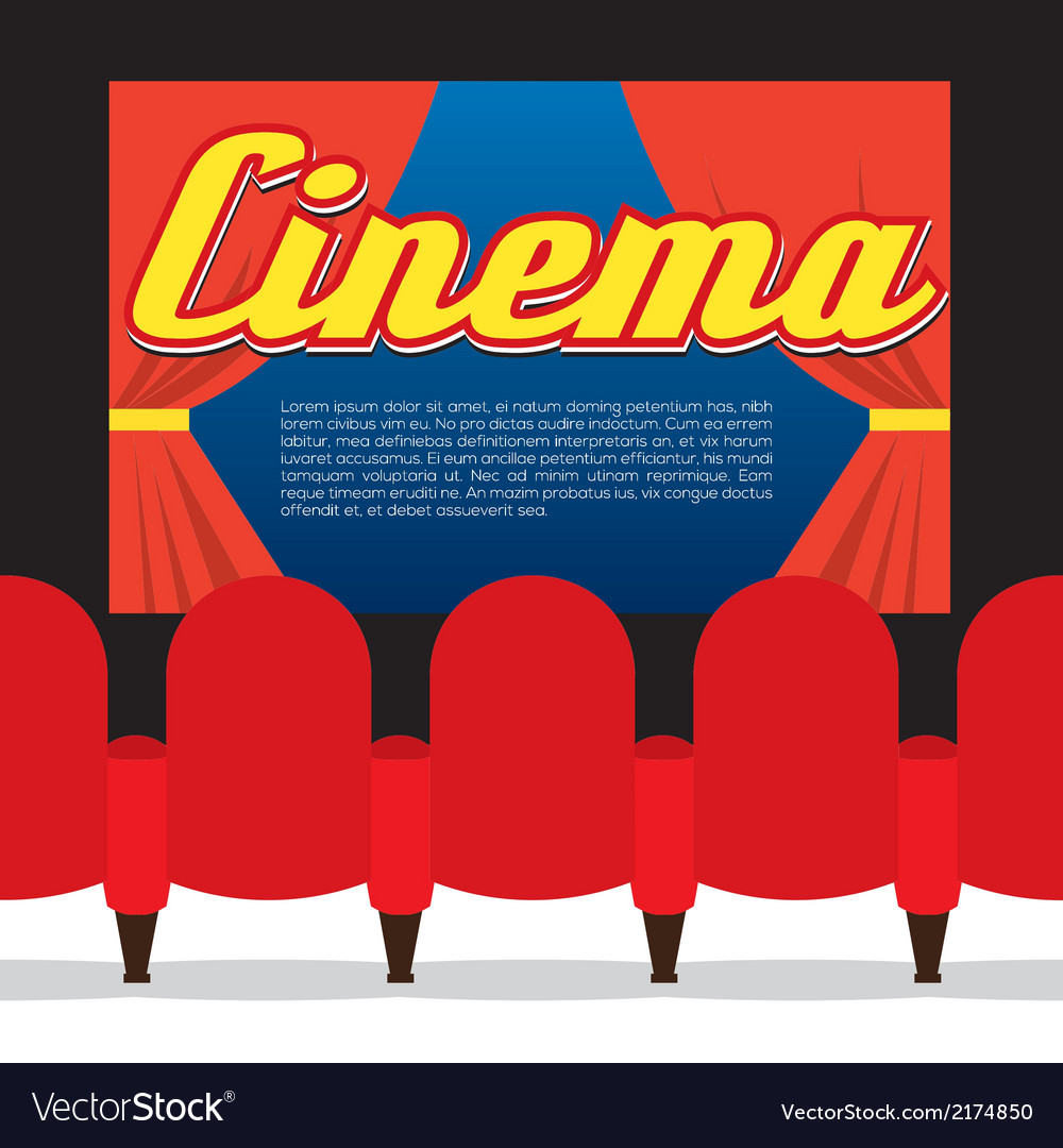 Cinema Seats In Front Of Screen vector image