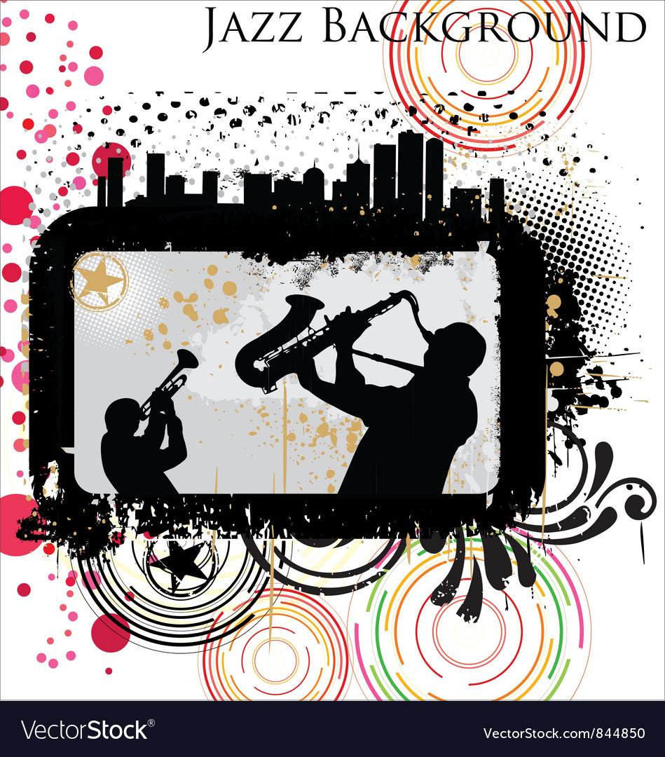 Retro Jazz background vector image
